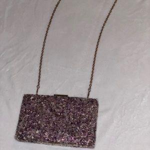Amethyst Clutch/crossbody option Bag